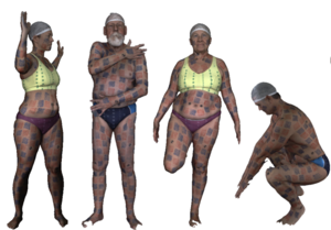 FAUST dataset: High-resolution 3D scans with ground truth correspondence