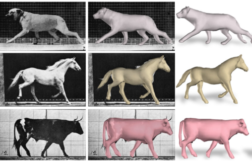 SMAL: 3D articulated model of animals shapes