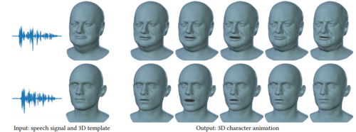 VOCA: Capture, Learning, and Synthesis of 3D Speaking Styles