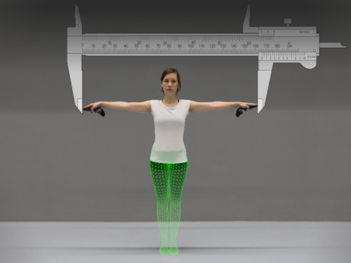 The Virtual Caliper: Rapid Creation of Metrically Accurate Avatars from 3D Measurements