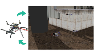 A Setup for multi-UAV hardware-in-the-loop simulations