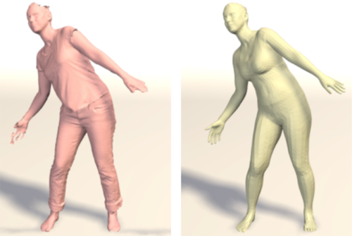 Detailed, accurate, human shape estimation from clothed {3D} scan sequences