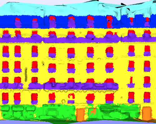 Efficient 2D and 3D Facade Segmentation using Auto-Context
