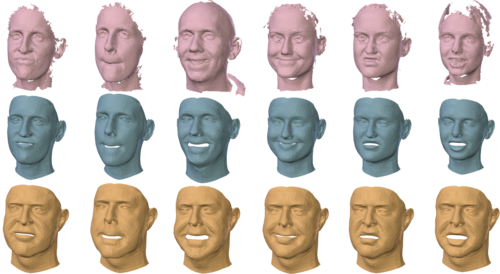 Learning a model of facial shape and expression from {4D} scans