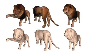 Lions and Tigers and Bears: Capturing Non-Rigid, {3D}, Articulated Shape from Images