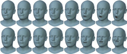 Generating {3D} Faces using Convolutional Mesh Autoencoders