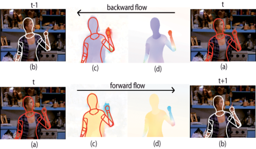 Estimating Human Pose with Flowing Puppets