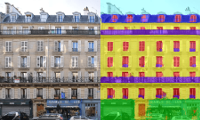 Efficient Facade Segmentation using Auto-Context