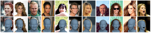 Learning to Regress 3D Face Shape and Expression from an Image without 3D Supervision