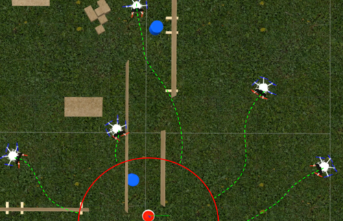 Decentralized {MPC} based Obstacle Avoidance for Multi-Robot Target Tracking Scenarios