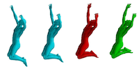 Lie Bodies: A Manifold Representation of {3D} Human Shape. Supplemental Material