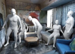 Generating 3D People in Scenes without People