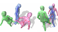 Markerless Motion Capture of Multiple Characters Using Multi-view Image Segmentation