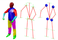 Ball Joints for Marker-less Human Motion Capture