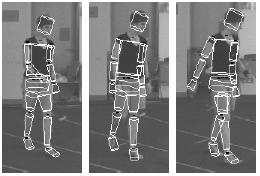 An adaptive appearance model approach for model-based articulated object tracking